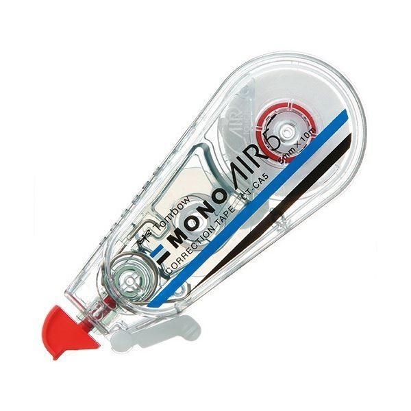 (まとめ) トンボ鉛筆 修正テープ モノエアー5mm幅×10m 赤 CT-CA5 1セット(5個) 〔×5セット〕