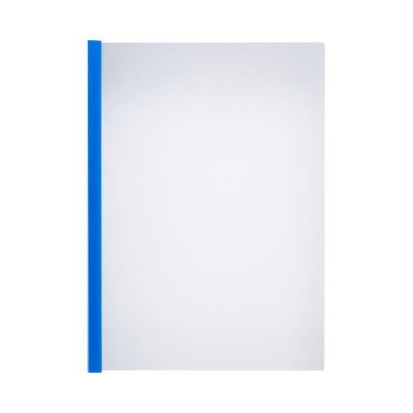 TANOSEE 薄型スリムレールホルダーA4タテ 10枚とじ 青 1セット(150冊:30冊×5パック)