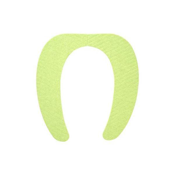 (まとめ) 便座シート/吸着べんざシート 〔グリーン〕 洗える トイレ用品 『レック ぴたQ』 〔72個セット〕