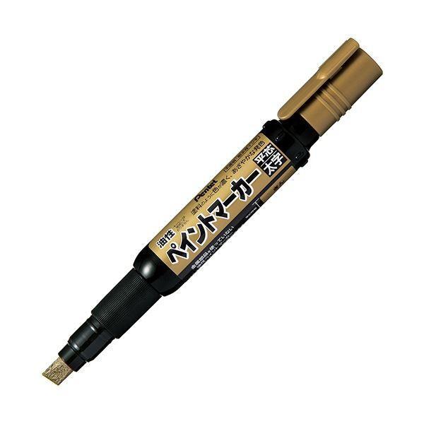 (まとめ)ぺんてる 油性ペン ペイントマーカー太字 金 MWP30-X 1セット(10本)〔×2セット〕