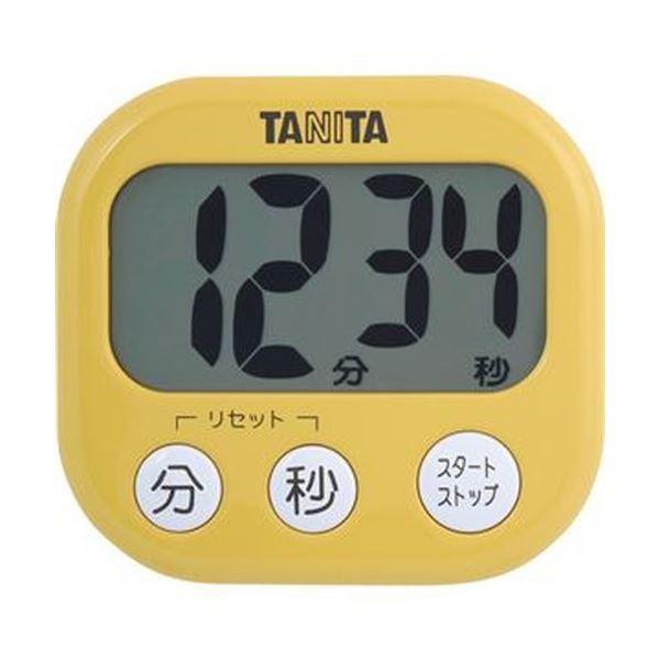 (まとめ)タニタ でか見えタイマーマンゴー イエロー TD-384MY 1個〔×20セット〕