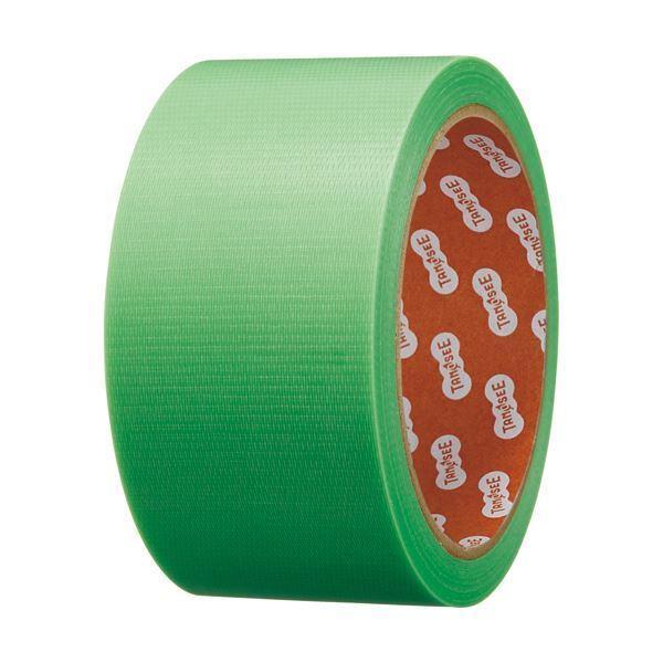 (まとめ)TANOSEE カラー養生テープ 50mm×25m 緑 1巻 〔×10セット〕