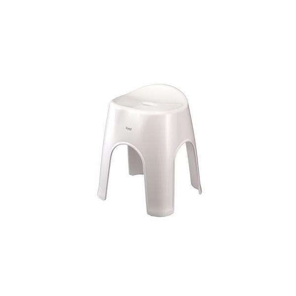 〔8個セット〕 風呂椅子/バスチェア 〔ホワイト〕 高さ40cm 銀イオン配合 抗菌加工 バス用品 『Emeal エミール』