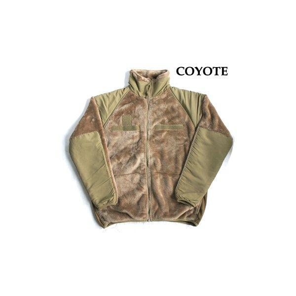 アメリカ軍 ECWC S Gen3 両面フリースジャケット 〔 Lサイズ 〕 サイドリブ仕様 JJ150YN コヨーテ 〔 レプリカ 〕