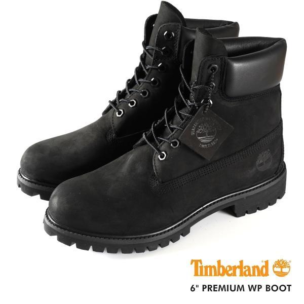 TIMBERLAND 6inch BOOT ティンバーランド 6インチ プレミアム ウォータープルーフ ブーツ BLACK 10073