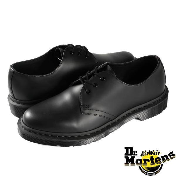 ドクターマーチン 3アイレット ギブソンシューズ レディース メンズ Dr.Martens 1461 3EYE GIBSON SHOES R14345001 BLACK MONO lowtex