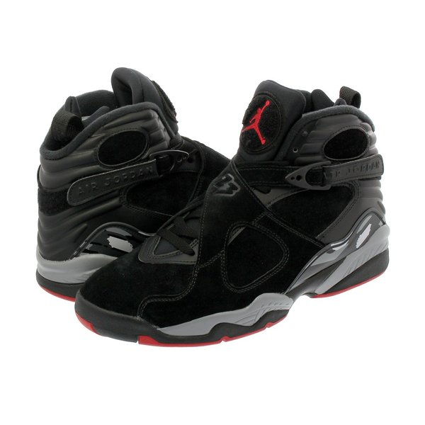 スニーカー メンズ ナイキ  エア ジョーダン 8 レトロ NIKE AIR JORDAN 8 RETRO ALTERNATE BRED BLACK/GYM RED/WOLF GREY|lowtex