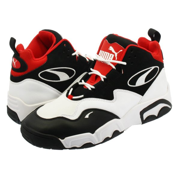 PUMA SOURCE MID プーマ ソース ミッド BLACK/WHITE/HIGH RISK RED 369829-03|lowtex