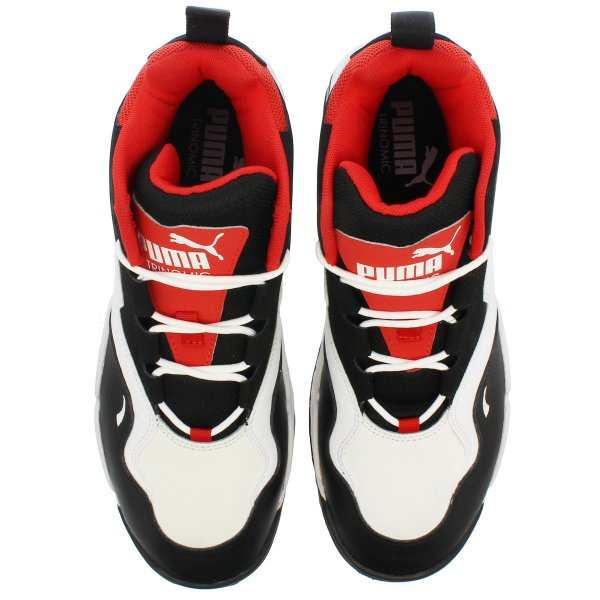 PUMA SOURCE MID プーマ ソース ミッド BLACK/WHITE/HIGH RISK RED 369829-03|lowtex|02