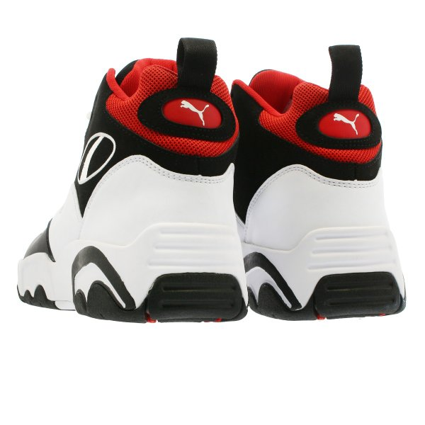 PUMA SOURCE MID プーマ ソース ミッド BLACK/WHITE/HIGH RISK RED 369829-03|lowtex|03