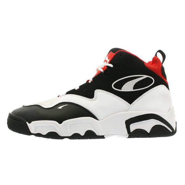 PUMA SOURCE MID プーマ ソース ミッド BLACK/WHITE/HIGH RISK RED 369829-03|lowtex|04