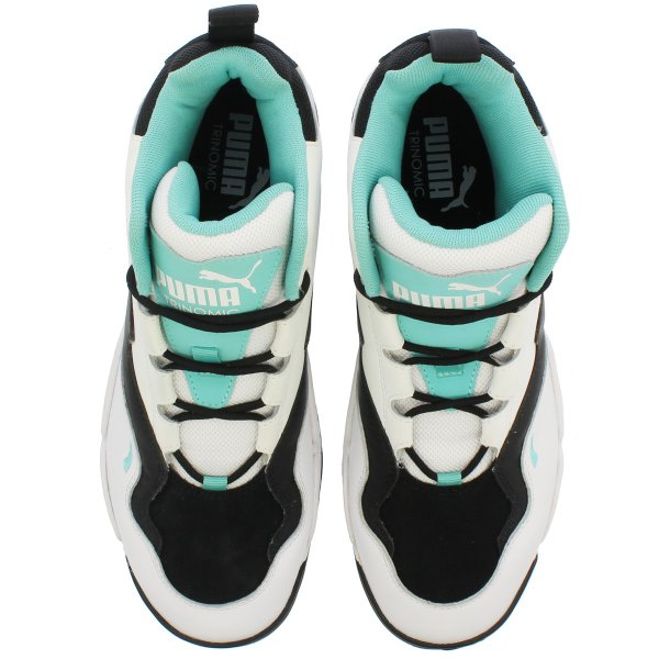 PUMA SOURCE MID プーマ ソース ミッド WHITE/BLACK/BLUE TURQUOISE 369829-04|lowtex|02