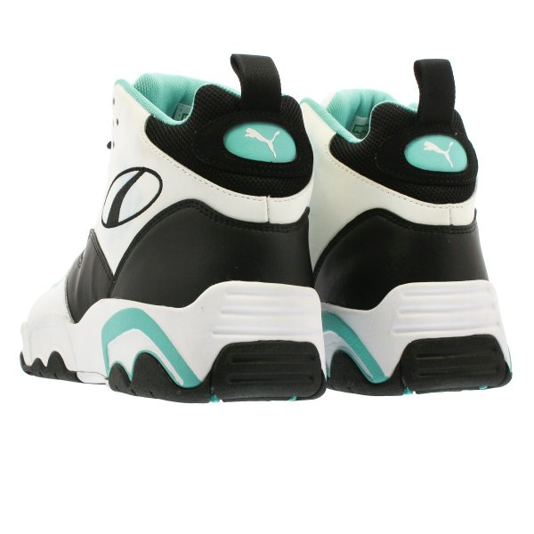 PUMA SOURCE MID プーマ ソース ミッド WHITE/BLACK/BLUE TURQUOISE 369829-04|lowtex|03