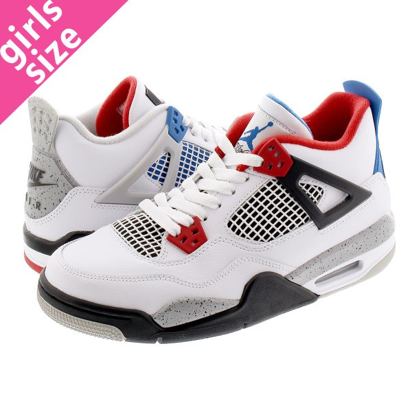 NIKE AIR JORDAN 4 RETRO GS 【WHAT THE 4】 ナイキ エアージョーダン4 レトロ GS WHITE/FIRE RED/TECH GREY/MILITARY BLUE 408452-146