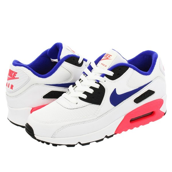 NIKE AIR MAX 90 ESSENTIAL ナイキ エア マックス 90 エッセンシャル WHITE/ULTRAMARINE/SOLAR RED/BLACK|lowtex