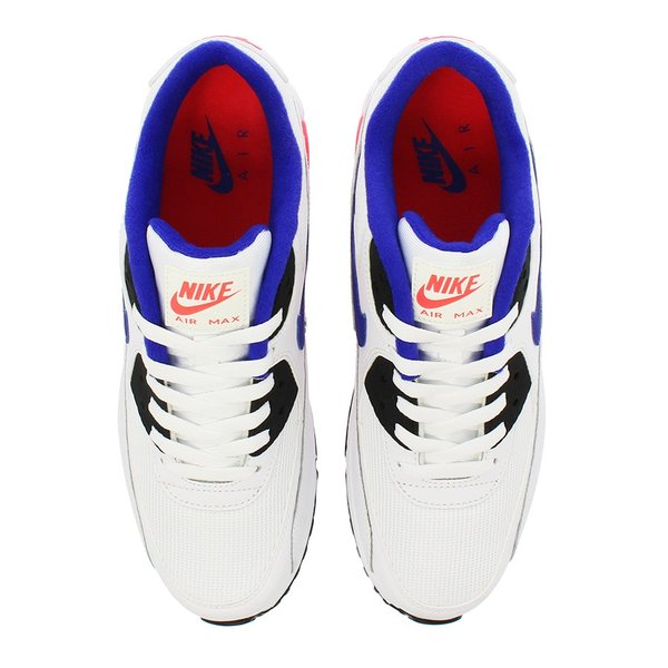 NIKE AIR MAX 90 ESSENTIAL ナイキ エア マックス 90 エッセンシャル WHITE/ULTRAMARINE/SOLAR RED/BLACK|lowtex|02