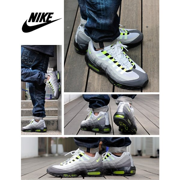 スニーカー メンズ ナイキ エアマックス 95 NIKE AIR MAX 95 OG BLACK/VOLT/MEDIUM ASH/DARK PEWTER|lowtex|08
