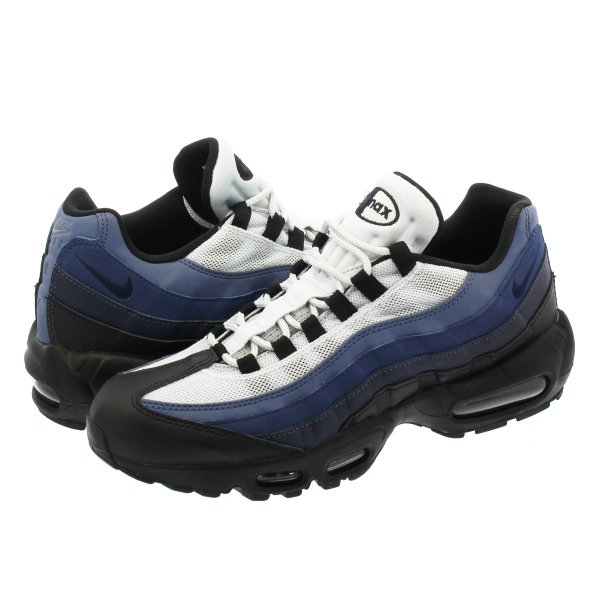 NIKE AIR MAX 95 ESSENTIAL ナイキ エア マックス 95 エッセンシャル BLACK/OBSIDIAN/NAVY BLUE/PURE PLATINUM|lowtex|01