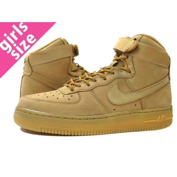 new style 71c99 a81a5  大人気の女の子サイズ♪ NIKE AIR FORCE 1 HIGH LV8 GS  WHEAT ...