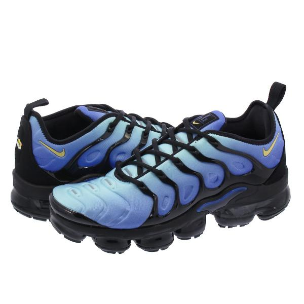 7717d66a329c NIKE AIR VAPORMAX PLUS ナイキ ヴェイパー マックス プラス BLACK CHAMPOIS HYPER BLUE 924453-  ...