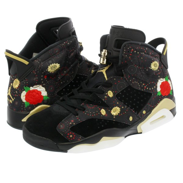 new concept 7b169 e7601 NIKE AIR JORDAN 6 RETRO CNY 【CHINESE NEW YEAR】 ナイキ エア ジョーダン 6 レトロ CNY  BLACK/MULTI COLOR/SUMMIT WHITE/METALLIC GOLD