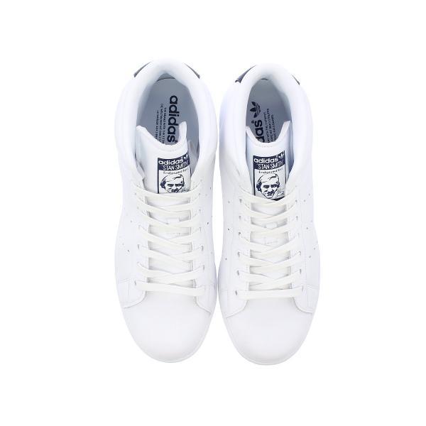 adidas STAN SMITH MID 【adidas originals】 アディダス スタンスミス ミッド WHITE/DARK BLUE メンズ ハイカット スニーカー 白 bb0070|lowtex|02