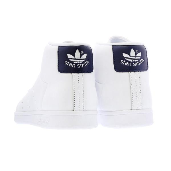 adidas STAN SMITH MID 【adidas originals】 アディダス スタンスミス ミッド WHITE/DARK BLUE メンズ ハイカット スニーカー 白 bb0070|lowtex|03
