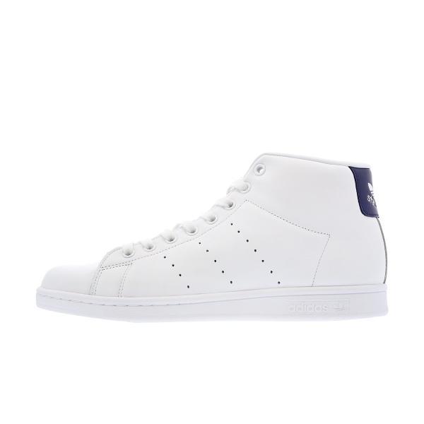 adidas STAN SMITH MID 【adidas originals】 アディダス スタンスミス ミッド WHITE/DARK BLUE メンズ ハイカット スニーカー 白 bb0070|lowtex|04