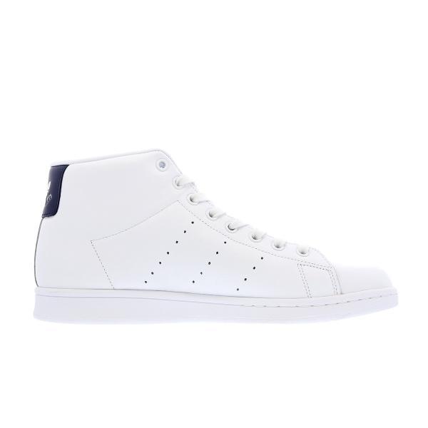 adidas STAN SMITH MID 【adidas originals】 アディダス スタンスミス ミッド WHITE/DARK BLUE メンズ ハイカット スニーカー 白 bb0070|lowtex|05