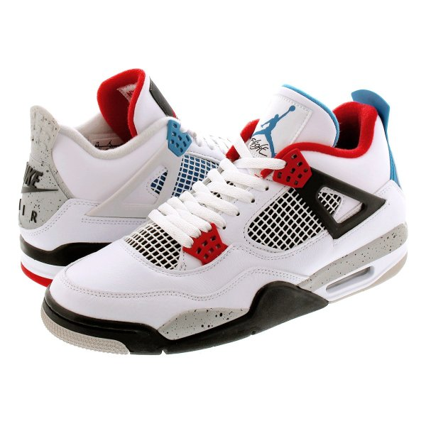 NIKE AIR JORDAN 4 RETRO SE 【WHAT THE 4】 ナイキ エア ジョーダン 4 レトロ SE WHITE/FIRE RED/TECH GREY/MILITARY BLUE ci1184-146