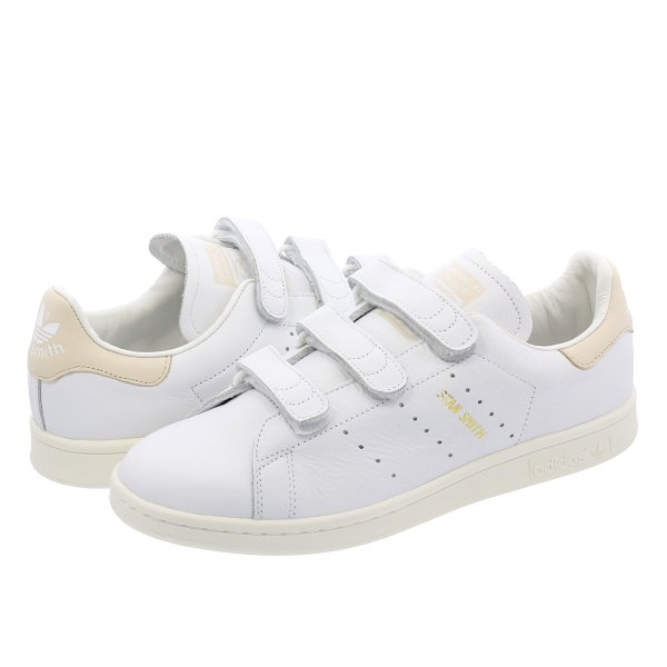adidas STAN SMITH CF 【adidas Originals】 アディダス スタンスミス CF RUNNING WHITE/RUNNING WHITE/LINEN f36573|lowtex