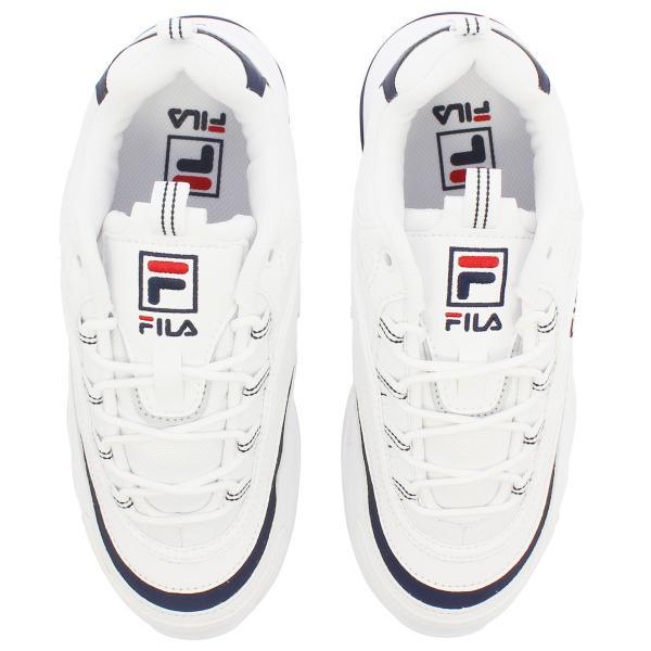 【大人気の女の子サイズ♪】 FILA FILARAY フィラ フィラレイ WHITE/NAVY f5054-1163