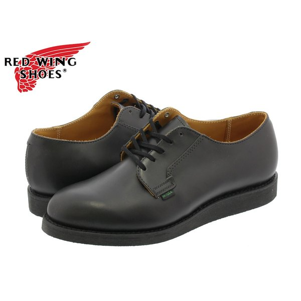 RED WING 101 POSTMAN BOOT OXFORD 【MADE IN U.S.A.】 レッドウイング ポストマン ブーツオックス フォードBLACK 【Dワイズ】 メンズ 靴|lowtex