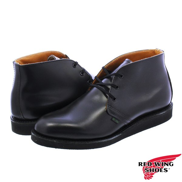RED WING 9196 POSTMAN BOOT CHUKKA 【MADE IN U.S.A.】 レッドウイング ポストマン ブーツ チャッカ BLACK 【Dワイズ】|lowtex