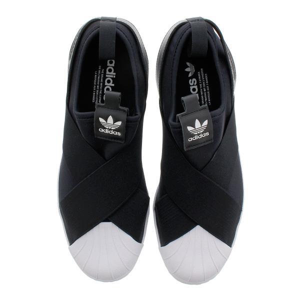 スニーカー レディース アディダス スーパースター スリッポン ウィメンズ adidas SUPERSTAR Slip On W adidas Originals BLACK/WHITE|lowtex|02