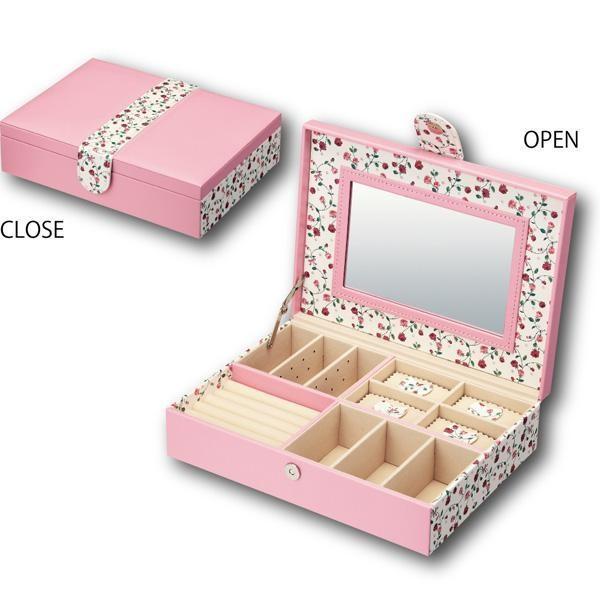 送料無料 ユーパワー Flower Jewelry Box フラワー ジュエリー ボックス Lサイズ ピンク FB-04502 他商品との同梱不可