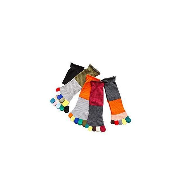 NiBao5本指ソックスレディースガールズ高筒綿靴下春秋冬コットン通気性抜群5足組 並行輸入品