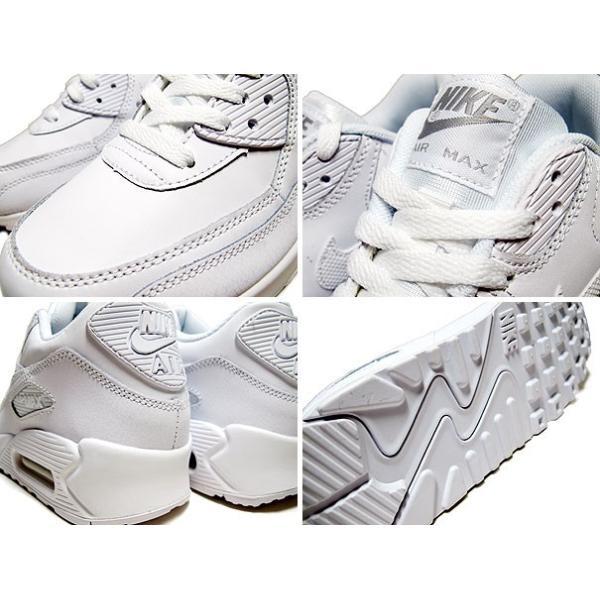 ナイキ エア マックス90 レディースサイズ NIKE AIR MAX 90 GS white/wolf grey 307793-167 ホワイト グレー