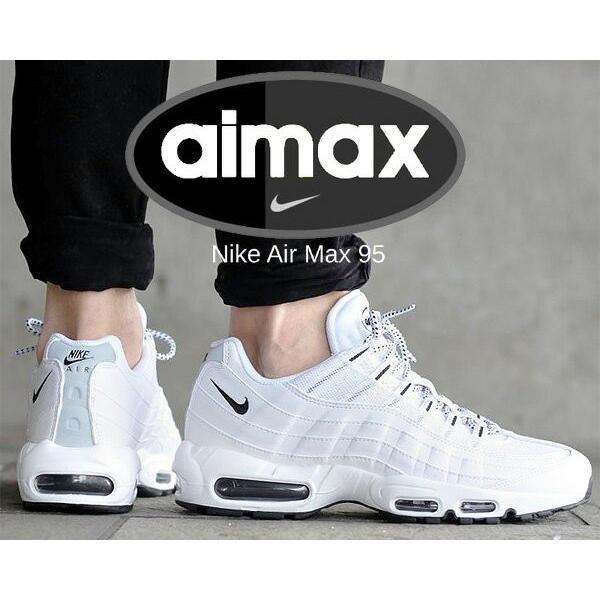 ナイキエアマックス95NIKEAIRMAX95wht/blk-blkスニーカーホワイトエアマックス95白メンズ609048-10
