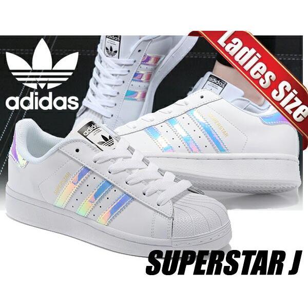 アディダス スーパースター レディース adidas SUPER STAR J FTWWHT/FTWWHT/METSILウィメンズ スニーカー ホワイト キッズ ジュニアサイズ
