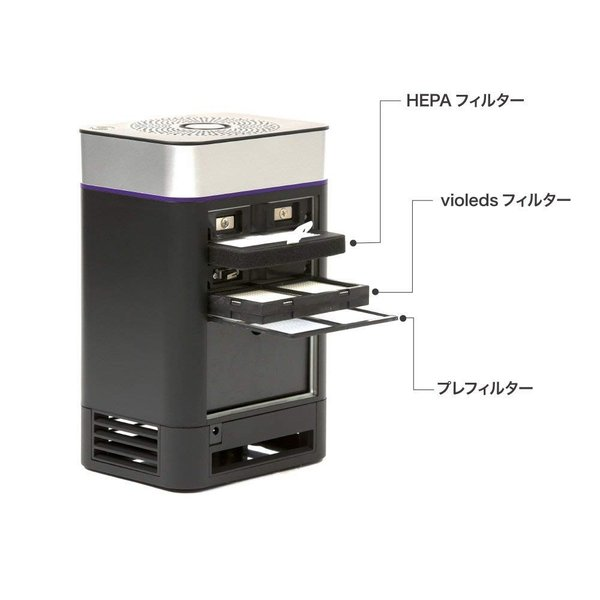 UV殺菌消臭器蚊取り機能付きAM1ブラック