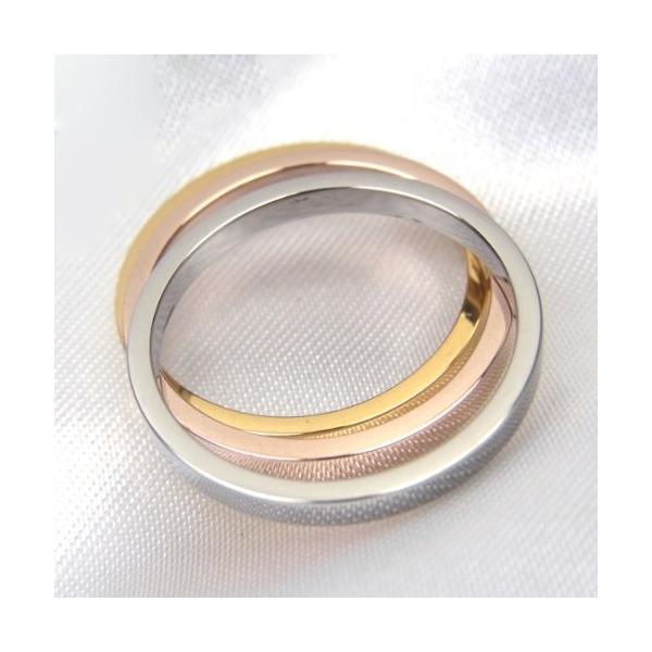指輪 サージカル ステンレス リング 平打ち 平打 2mm シルバー 3号