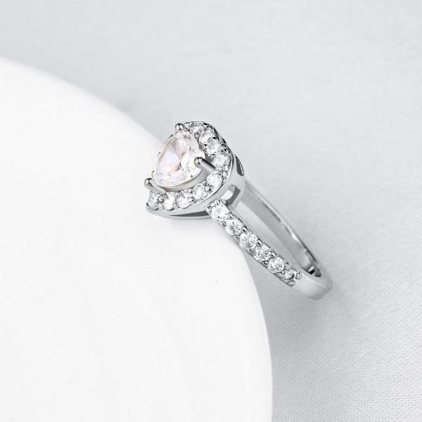 Rockyu 人気 レディース リング プラチナ 婚約指輪 ダイヤ ジルコニア 指輪 11号