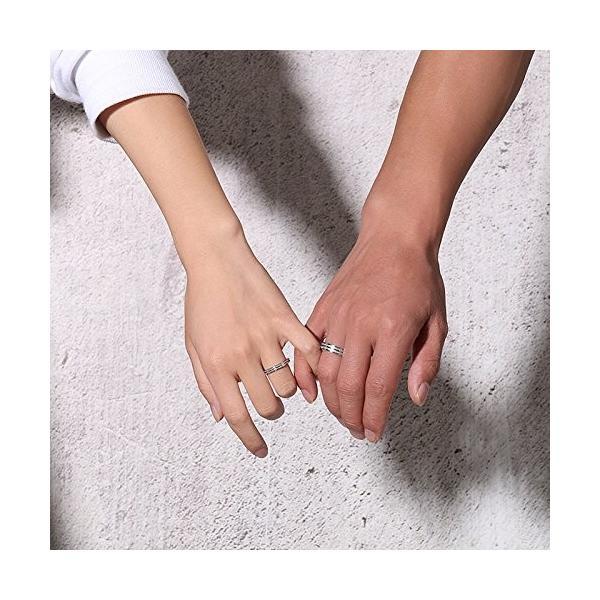 Rockyu ジュエリー メンズリング20号 ペアリングステンレス シルバー 人気 指輪