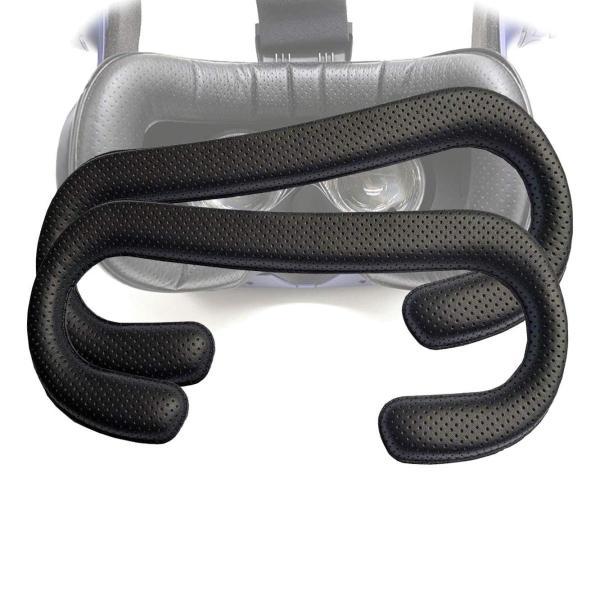 T&B HTC Vive PRO用 革材 フェイスクッション 12mm VR MASK (2個セット) lucia0322 05