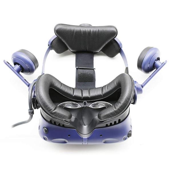 T&B HTC Vive PRO用 革材 フェイスクッション 12mm VR MASK (2個セット) lucia0322 08