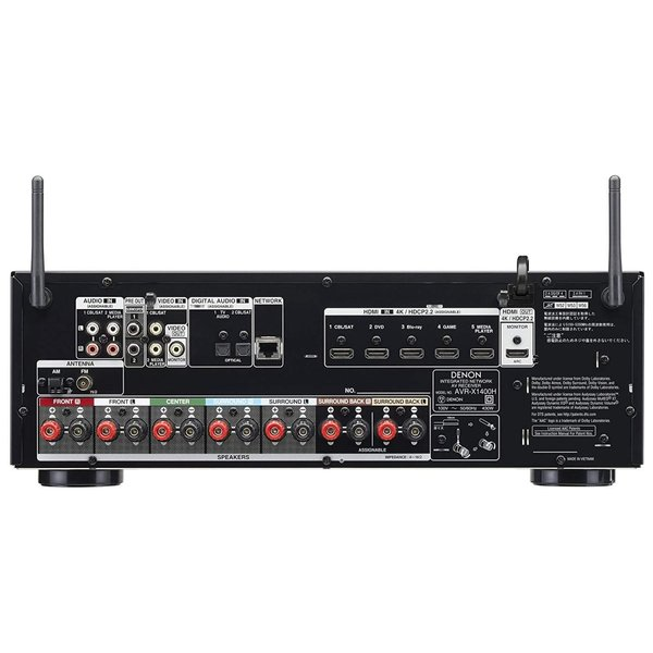 DENON AVレシーバー 7.2ch Dolby Atmos/DTS:X/HEOS機能搭載 エントリークラス ブラック AVR-X1400