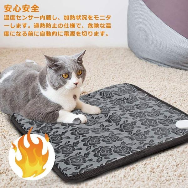 EVELTEK ペット用ホットカーペット 温度調節可能 ウサギ 犬猫ペット用 シート Lサイズ 節電 暖かい ホット シート 秋冬 防寒 寒