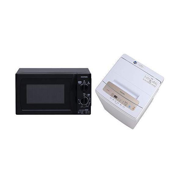 セット販売東日本 50Hz専用アイリスオーヤマ 電子レンジ 17L ターンテーブル ブラック MBL-17T5-B & アイリスオーヤマ 全|lucia0322