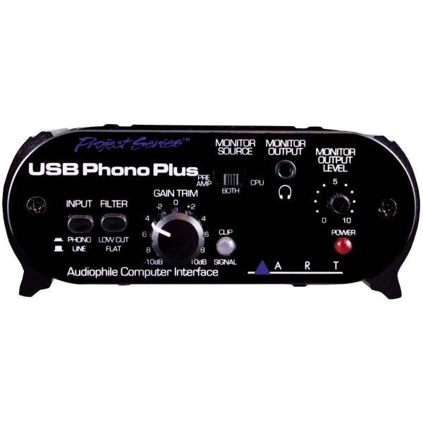 ART エー・アール・ティー フォノ・プリアンプ搭載USBオーディオ・インターフェイス USB Phono Plus 国内正規輸入品